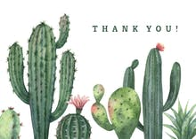 Cactus - Thank You Card Template