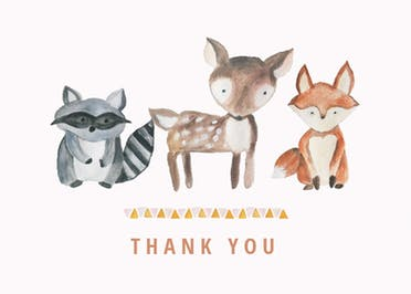 cute cubs free thank you card template greetings island