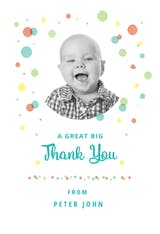Dashing Dots - Thank You Card
