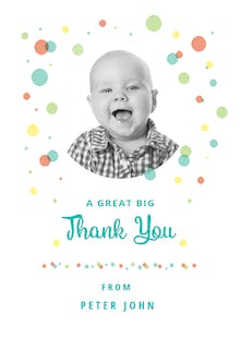 Dashing Dots - Birthday Thank You Card
