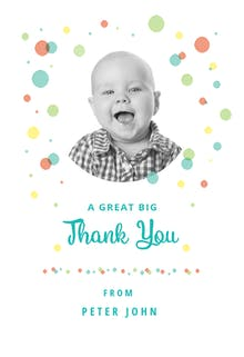 Dashing Dots - Thank You Card Template