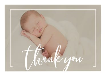 Elegant frame - Thank You Card Template