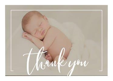 Elegant frame - Baby Thank You Card