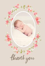 Floral Baby - Thank You Card