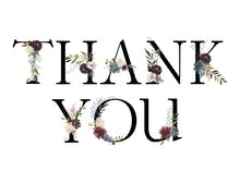 Floral Letters - Thank You Card Template