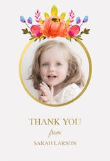 Floral - Thank You Card Template