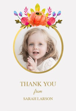 Floral - Baby Thank You Card