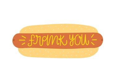 Frank You - Thank You Card Template