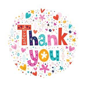 Gratitude Circle - Thank You Card Template
