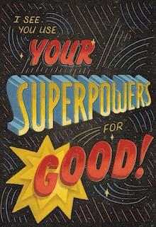 Powerful - Tarjeta De Agradecimiento Para Imprimir
