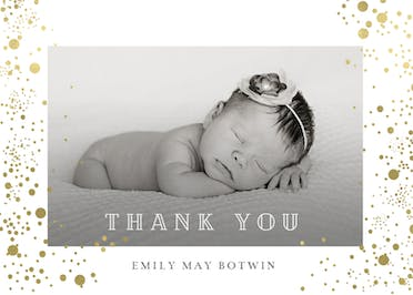 Pure Love - Baby Thank You Card