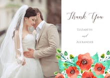 Royal Garden - Wedding Thank You Card