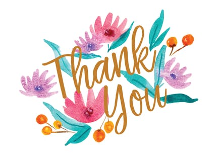Soft Flowers Thank You Card Template Free Greetings Island