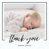 Striped frame - Thank You Card