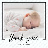 Striped frame - Thank You Card Template