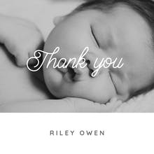 Thank you - Baby Thank You Card