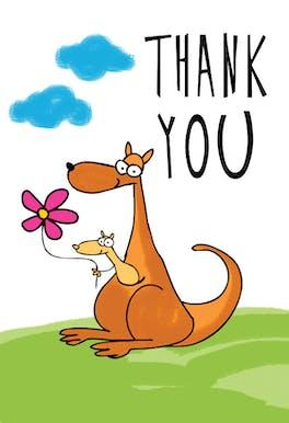 Thank You Kangaroo - Thank You eCard