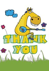 Thank You Horse - Thank You Card Template