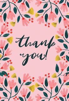 thank you - Thank You Card Template