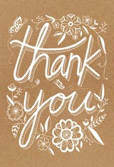 Rustic - Thank You Card