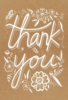 Rustic - Thank You Card Template