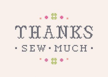 Thanks Sew Much - Thank You Card Template