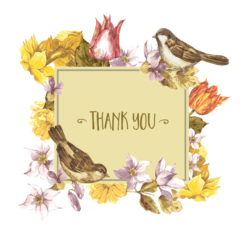 Thoughtful Thanks - Free Thank You Card Template ...