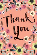 Thoughtful Thanks - Thank You Card Template