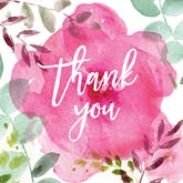 Tickled Pink - Thank You Card Template