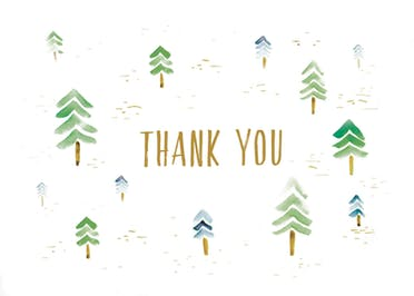 Watercolor forest - Thank You Card Template