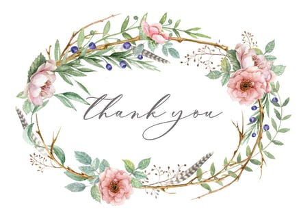 Thank You Card Templates Free Greetings Island