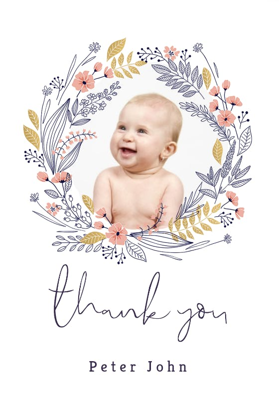 Baptism Thank You Cards Free Greetings Island