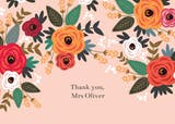 Floral mood - Thank You Card For Teacher