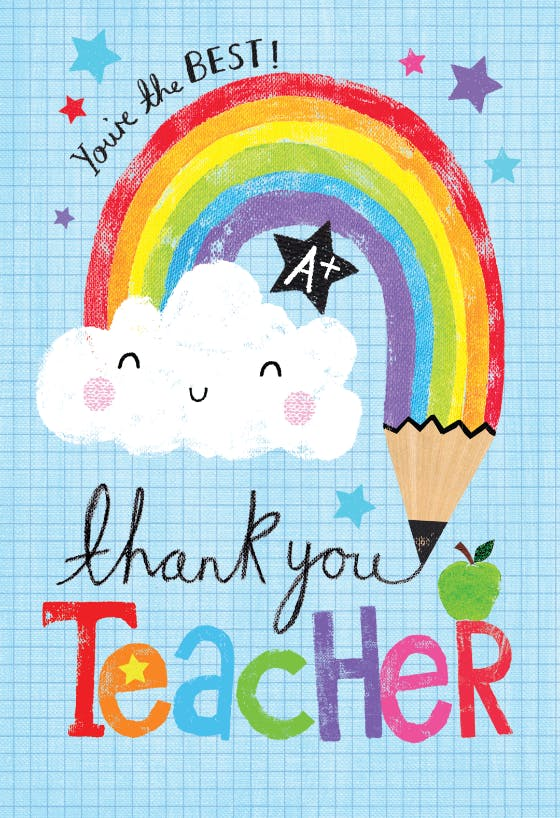 thank you cards for teachers  free