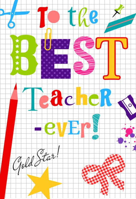 thank you cards for teachers free  greetings island