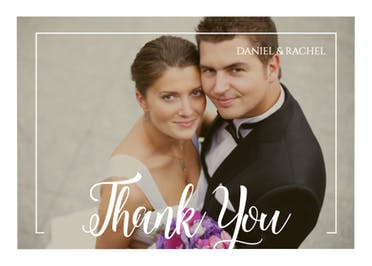 Elegant Frame Thank You - Wedding Thank You Card