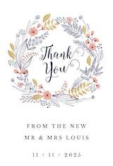 Ever Thankful - Wedding Thank You Card