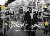 Shinny Thank You - Wedding Thank You Card
