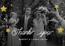 Shinny Thank You - Wedding Thank You Card