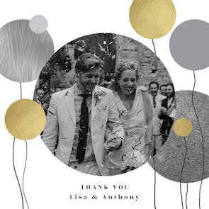 Surrealism balloons - Wedding Thank You Card