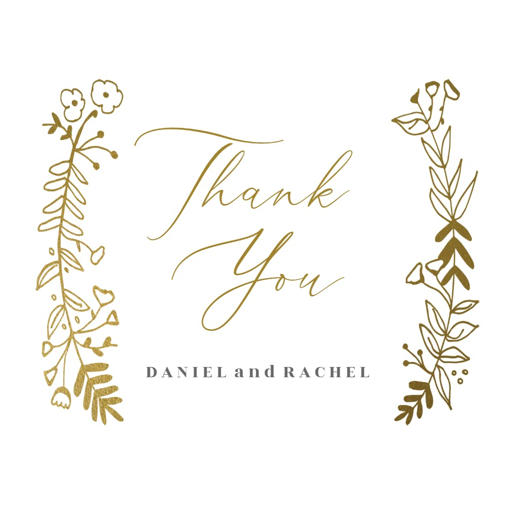 PRINTABLE Thank You Card Thank You Card Bride /& Groom Watercolour Floral PDF Instant Download Thank You Printable Thank You Wedding