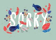 Floral Sorry - Sorry Card