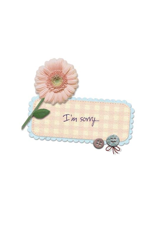 Dottyart sorry greetings card