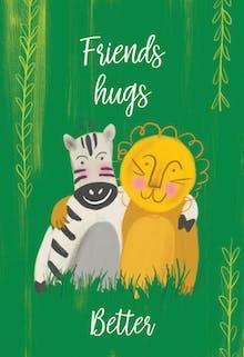 Pal Party - Hugs Card
