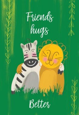 Pal Party - Hugs Card