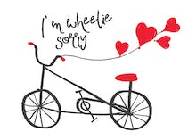 Pedaling Apologies - I'm Sorry Card