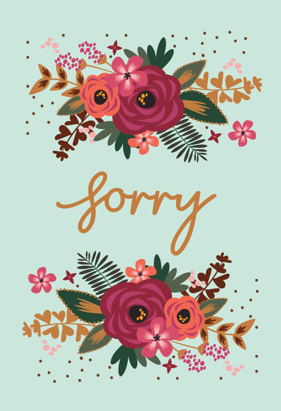 picture about Printable Sorry Card referred to as Sorry Playing cards (No cost) Greetings Island