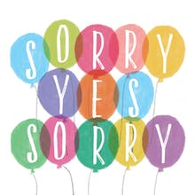 Sorry yes Sorry - Tarjeta De Disculpa