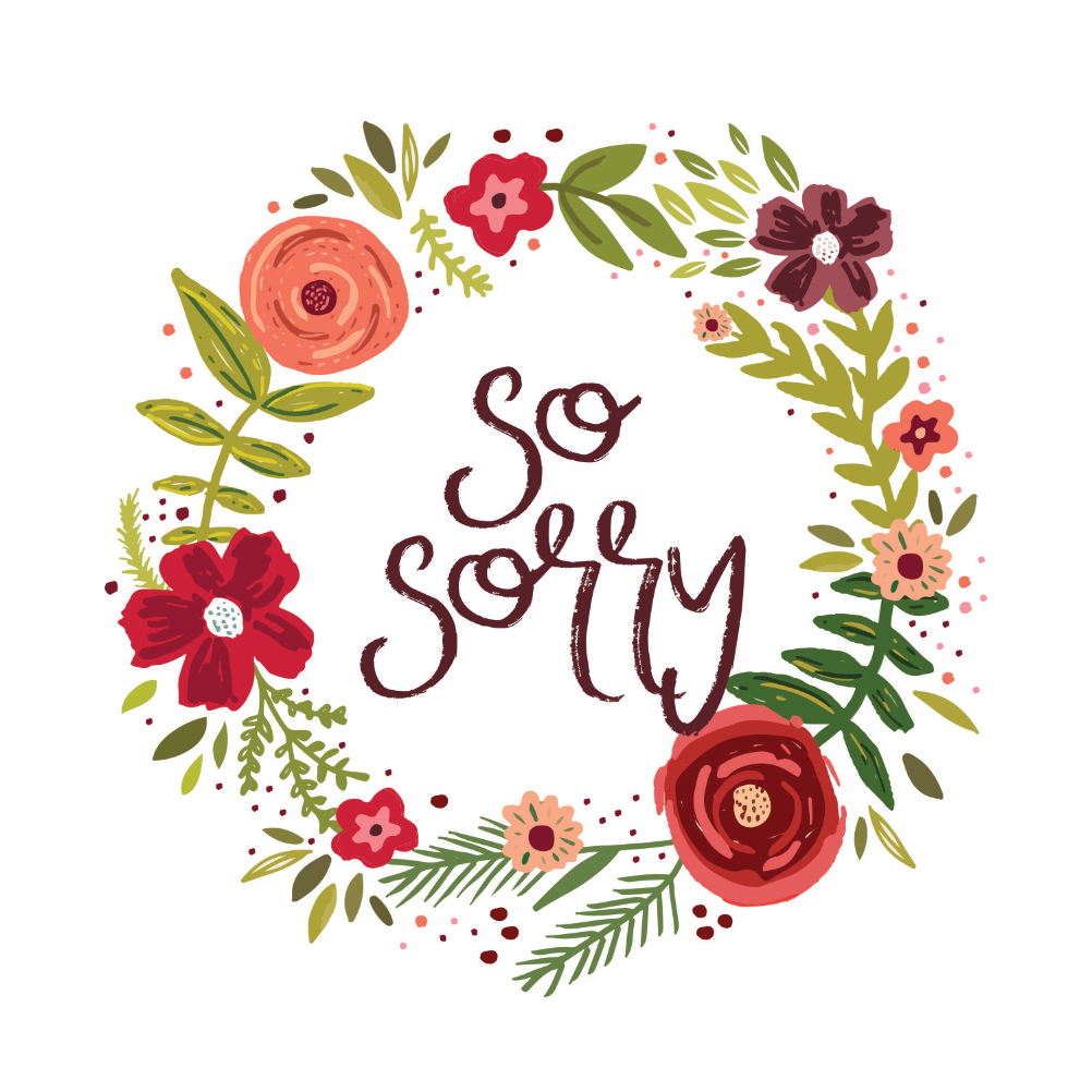 image relating to Printable Sorry Card identified as Sorry Playing cards (Free of charge) Greetings Island