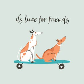 Woofers - Printable Friendship Card